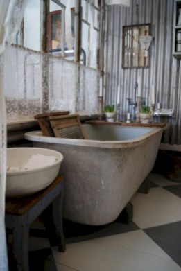 Industrial vintage bathroom ideas (52)
