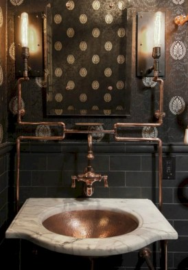 Industrial vintage bathroom ideas (54)