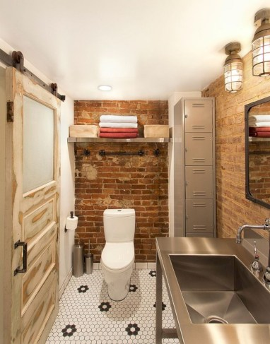 Industrial vintage bathroom ideas (55)