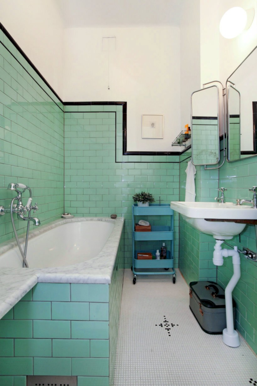 Industrial vintage bathroom ideas (57)