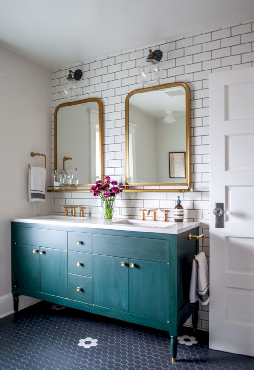 Industrial vintage bathroom ideas (6)