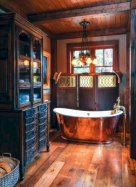 Industrial vintage bathroom ideas (60)