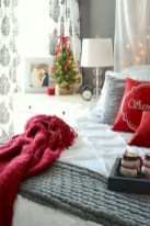 Inspiring christmas bedroom décoration ideas 07
