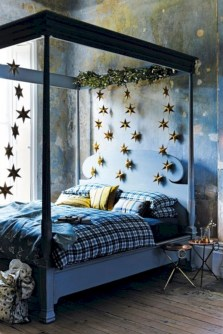 Inspiring christmas bedroom décoration ideas 12