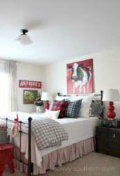 Inspiring christmas bedroom décoration ideas 15