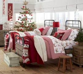 Inspiring christmas bedroom décoration ideas 53