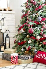 Inspiring christmas decoration ideas using plaid 08