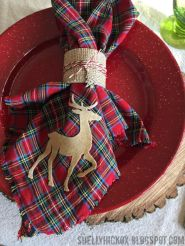 Inspiring christmas decoration ideas using plaid 14