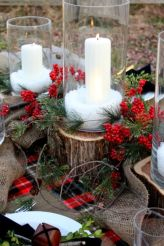Inspiring christmas decoration ideas using plaid 17