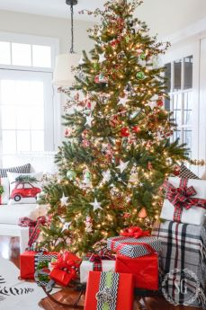 Inspiring christmas decoration ideas using plaid 33