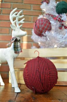 Inspiring christmas decoration ideas using plaid 45