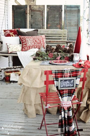 Inspiring christmas decoration ideas using plaid 51