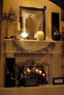 Inspiring halloween fireplace mantel ideas 07