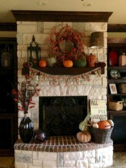 Inspiring halloween fireplace mantel ideas 11