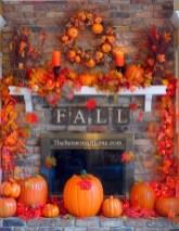Inspiring halloween fireplace mantel ideas 16