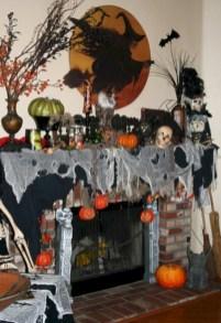 Inspiring halloween fireplace mantel ideas 27