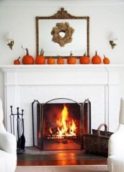Inspiring halloween fireplace mantel ideas 34