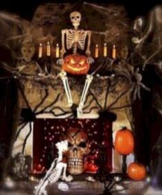 Inspiring halloween fireplace mantel ideas 41