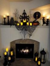 Inspiring halloween fireplace mantel ideas 45