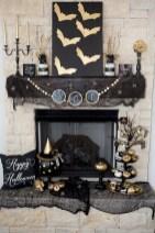 Inspiring halloween fireplace mantel ideas 51