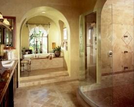 Mediterranean themed bathroom designs ideas 21
