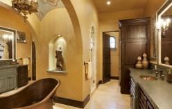 Mediterranean themed bathroom designs ideas 42