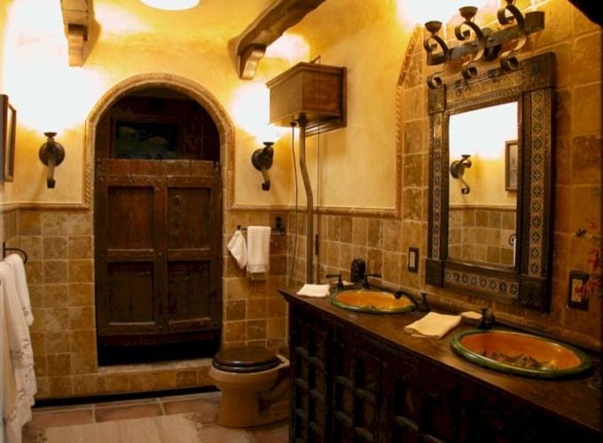 Mediterranean themed bathroom designs ideas 44
