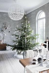 Minimalist and modern christmas tree décoration ideas 47