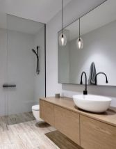 Modern bathroom with floating sink decor (2)