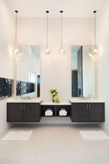 Modern bathroom with floating sink decor (25)