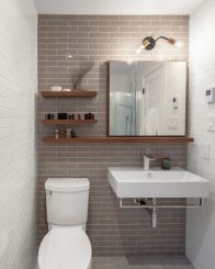 Modern bathroom with floating sink decor (3)