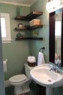 Modern bathroom with floating sink decor (35)