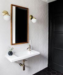 Modern bathroom with floating sink decor (40)