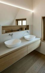 Modern bathroom with floating sink decor (41)