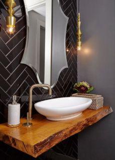 Modern bathroom with floating sink decor (46)
