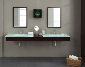 Modern bathroom with floating sink decor (51)