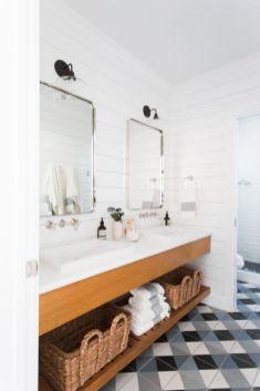Modern bathroom with floating sink decor (58)