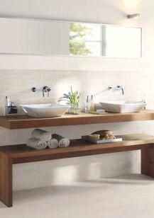 Modern bathroom with floating sink decor (60)
