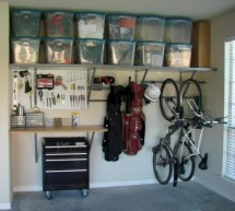 Neat and well-organized garage home decor ideas (14)