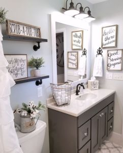 Paint colors farmhouse bathroom ideas (25)