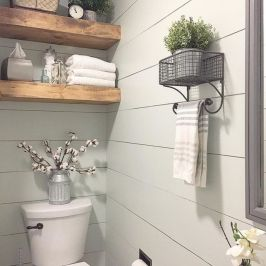 Paint colors farmhouse bathroom ideas (33)