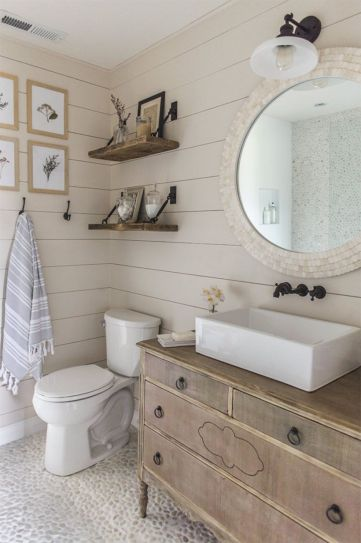 Paint colors farmhouse bathroom ideas (39)