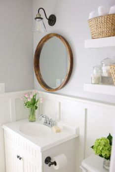 Paint colors farmhouse bathroom ideas (45)