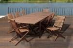 Rectangular folding outdoor dining tables design ideas 08