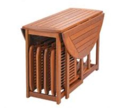 Rectangular folding outdoor dining tables design ideas 17