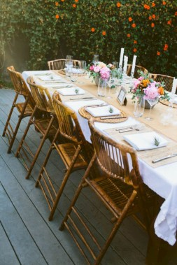 Rectangular folding outdoor dining tables design ideas 26