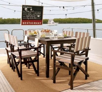 Rectangular folding outdoor dining tables design ideas 27