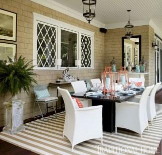 Rectangular folding outdoor dining tables design ideas 30