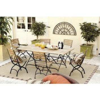 Rectangular folding outdoor dining tables design ideas 31