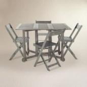 Rectangular folding outdoor dining tables design ideas 33